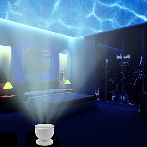 Ocean Wave Night Light Projector and Music Player