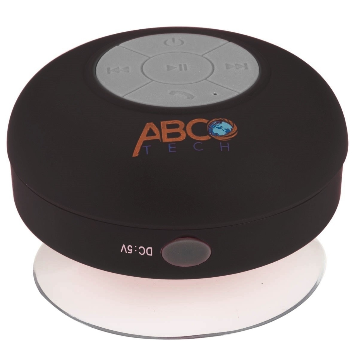Abco Tech Water Resistant Wireless Bluetooth Shower Speaker with Suction Cup and Hands-Free Speakerphone - black 572b99c6aa3d6f0d218b45ab