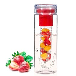 Infuser Water Bottle - 28 ounce - Made with Commercial Grade Tritan (RED)