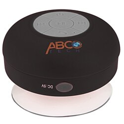 Abco Tech Water Resistant Wireless Bluetooth Shower Speaker with Suction Cup and Hands-Free Speakerphone