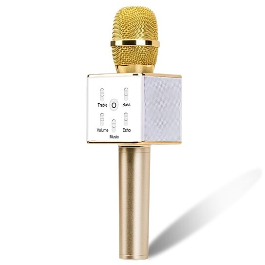 portable karaoke machine with wireless microphone