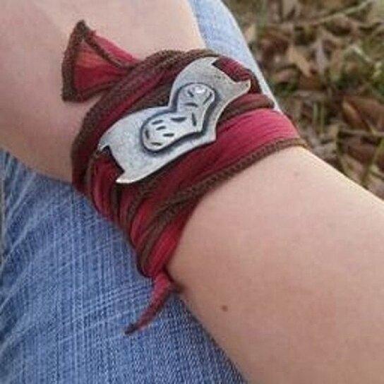 Buy trendy yoga bracelet wrap ribbon heart teen girl Trendy womens gifts 2015