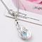 Crystal Tibetan Rhinestone Cross Geometric Necklace For Woman Round Charming Blue Stone Infinity Pendant Necklace Jewelry