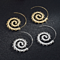 Geometric Creative Swirl Hoop Earring for Women Banquet Steampunk Stylish Women Party Jewelry Accessories