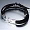 High Quality New Fashion Jewelry PU Leather Bracelet Men Angel Wings Bracelets for Women Best Friend Gift