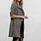 New Women Slim Thin Outerwear Casual Lapel Windbreaker Cape Coat European Style Linen Cardigan Jacket US Plus Size S-7XL