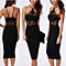 Sexy Evening Dresses Off Shoulder Blackless Hot Dresses For Party With Embrodiery Lace Elegant Halter Sexy Cocktail Dresses