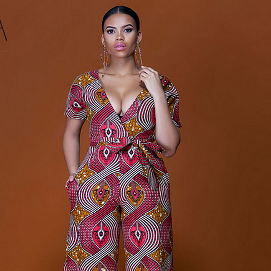 78f4595fef2e Buy Stylish Handmade African Womens Rompers Jumpsuit 2018 New Women African  Print Clothing Short Sleeve Casual Sexy Fashion Party Wide Leg Pants by ...