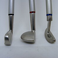 Golf Clubs with Style a 3 Ballpoint Pen Set.