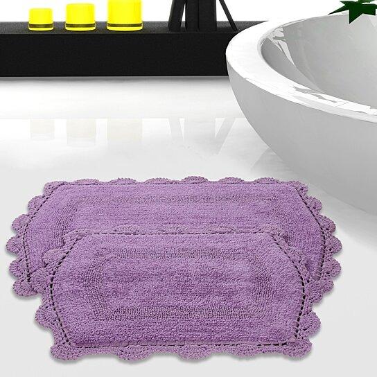 Buy Crochet Lace 2 Piece Soft Cotton Reversible Bath