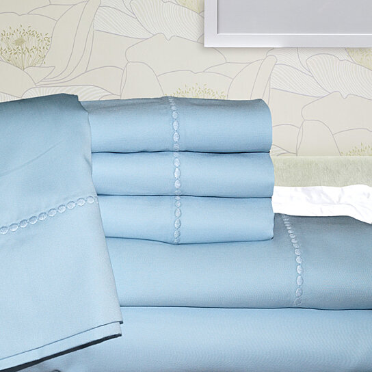 Buy Symphony 1000 Thread Count Egyptian Cotton Rich 6 Piece Set With Embroidery By Linens N