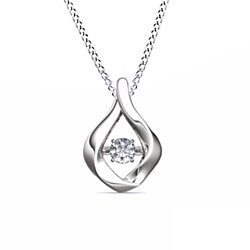"1/2 Ct Round Cut White Natural Genuine Diamond 14K Solid Gold Solitaire Pendant w/18""Chain"