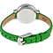 FOSSIL Women's stainless steel, Green Leather Strap Ladies Watch