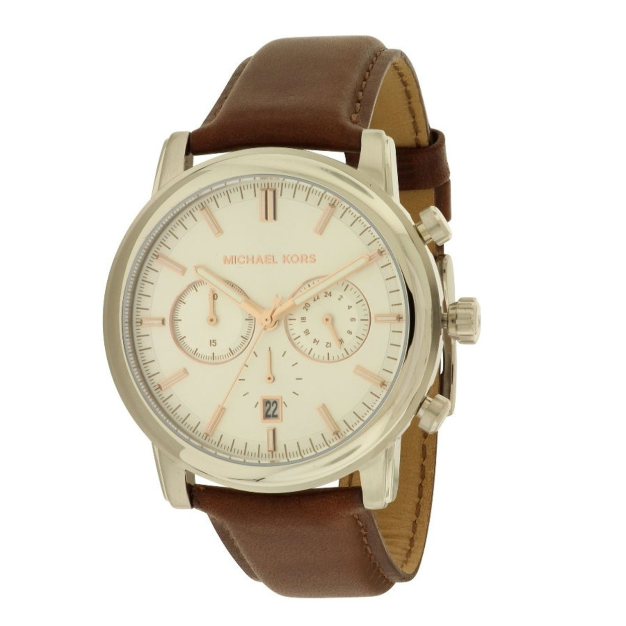 s watches michael kors s pennant brown leather