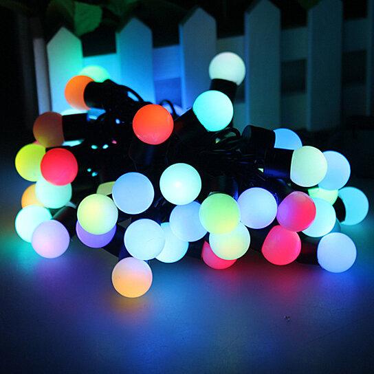 Color Changing LED RGB Ball String Christmas Xmas Lights