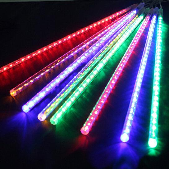 buy meteor shower rain lights rgb multi color color by. Black Bedroom Furniture Sets. Home Design Ideas