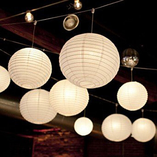 buy round white paper lanterns 6 8 10 wedding party