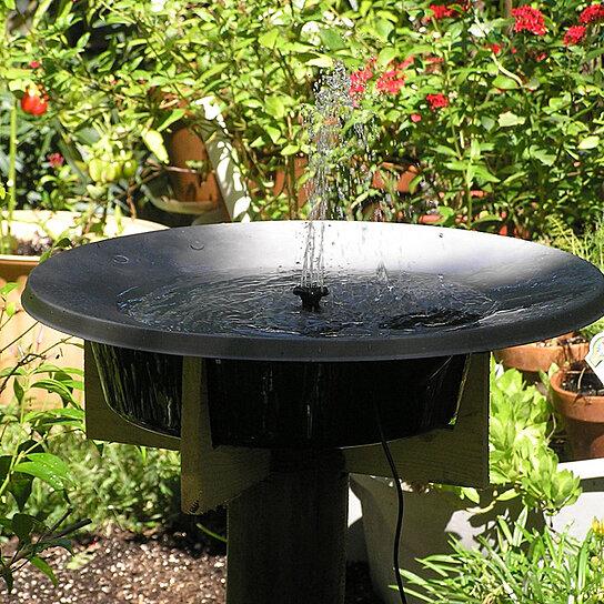 Buy solar power fountain pool water pump garden watering for Water garden pools