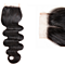 1 PCS 100%Human Hair 4x4 Natural Black Closure Free part Middle Part Three Part Free DHL Delivery