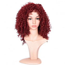 1pcs Burg# Synthetic Hair Wig Jerry Curly wavy wig