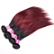 1pcs Ombre Brazilian Hair Straight Weave Human Hair  Red 1B 99J Non Remy Hair Wigs DHL Shippinging