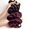 3PCS 100g/pcs Body Wave Bundles Ombre Human Hair Weave Two Tone Burgundy Ombre Brazilian Hair Free DHL Deliver 3-5 days