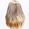 Blonde Gold Silk Straight Synthetic Wigs Women Wig Fasion Middle Part