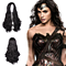 DC Wonder Woman Cosplay Long Black Straight Synthetic Wigs Short Black Hair for Women High temperature Fiber