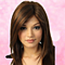 Fashion Dark Brown Long Straight Partial Bangs Full Wig Heat Resistant Party Hair for Lady