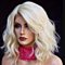 Fashion Women Lace Front Wig Short Platinum Blonde Wavy Lace Synthetic Hair Wig