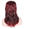 Fashion Women Long Straight Red Brown Black Multi-Color Rainbow Synthetic Hair Ombre Cosplay Wig
