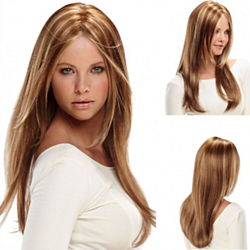 High Quality Memory Cap Heat Resistant Synthetic Long Straight Wigs for Women