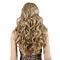 Long Kinky Curly Women's Wig Curly Wig Black With Blonde Highlights Synthetic Full Wigs