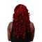 Long Red Cosplay Wig Halloween Long Curly Synthetic Wigs Hair Wine Red for Women