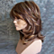 Medium Side Bang Highlighted Layered Slightly Curled Synthetic Wig