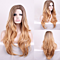 New Arrival Brown & Golden Gradient Full Wig Cosplay Centre Parting Long Curly wavy Women Wig Gradient Fashion Hairpiece