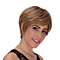 Women Fashion Short Brown Gold Color Synthetic Nutural Wigs for Women Wig