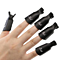 10PC/Set Pro UV Gel Polish Remover Wrap Black Plastic Nail