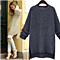 Autumn Winter Oversize Long Side Slit Solid Knit Sweater Pullover