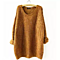 Autumn Winter Women's o-Neck Loose Solid Knitted Sweater