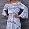 Boho Beach Floral Print Off Shoulder Dress Loose Dress