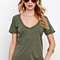 Casual Loose  Women's Short Sleeve Solid T Shirt In 5 Colors