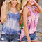 Casual Women's Tie Dye Sleeveless Shirt Tank Top