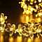 Cherry Peach Blossom Flower LED Solar Fariy String Light 7M 50LED Outdoor Party Christmas New Year Birthday Decoration