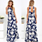 Chic Women's Elegant Floral Print Halter Backless Maxi Dress