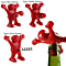 Creative Happy Red Man Beer Wine Opener and Stopper Multifunction Stainless Steel Soda Bottle Bar Tools (3 Pack)