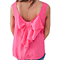 Cute Summer Sleeveless Solid Tank Top T Shirt With Bow