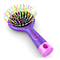 Detangling Brush with Mirro - Soft Bristle- Straightening Detangler- For All Hair Types (Purple)