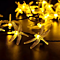 Dragonfly Solar String Lights Outdoor Waterproof Fairy Decoration Lighting for Indoor/Outdoor Patio