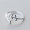 Fashion Rose Flower Engraved Silver Ring